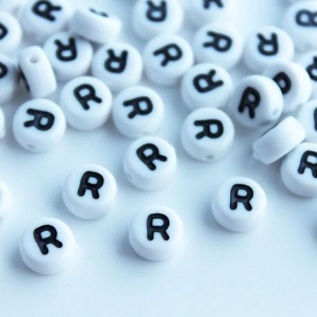 "7mm Acrylic Alphabet Beads - Letter ""R"""
