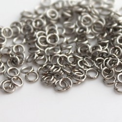 3mm Jump Rings - Silver Tone