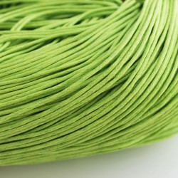 1.5mm Value Waxed Cotton Cord - Lime Green - 5 m