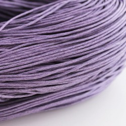 1.5mm Value Waxed Cotton Cord - Lavender - 5m