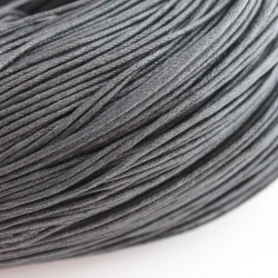 1.5mm Value Waxed Cotton Cord - Black - 5 m