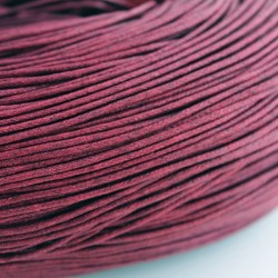 1.5mm Value Waxed Cotton Cord - Burgundy Red - 5m