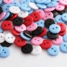 11mm Resin Buttons 2 Hole - Mixed Colours