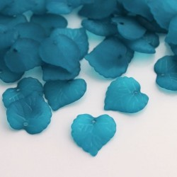 16mm Frosted Acrylic Leaves - Teal