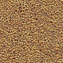 Miyuki Duracoat Seed Beads 11/0 - Galvanised Gold (4202)