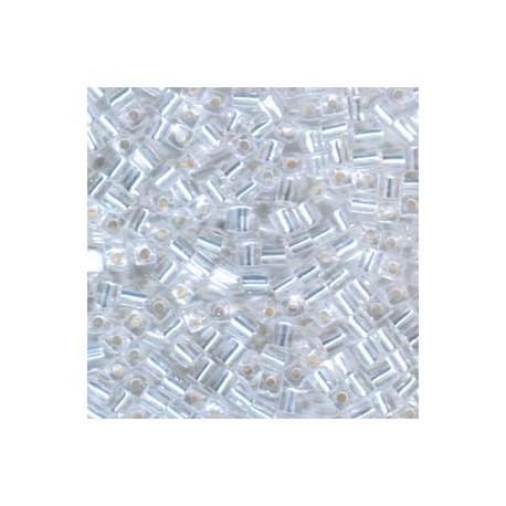 Miyuki Cube Beads 4mm Silver Lined - Crystal