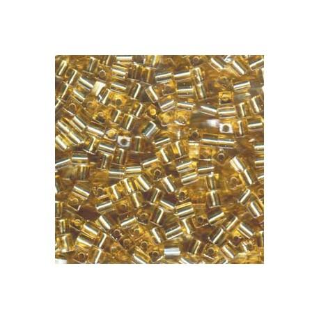 Miyuki Cube Beads 4mm Silver Lined - Gold