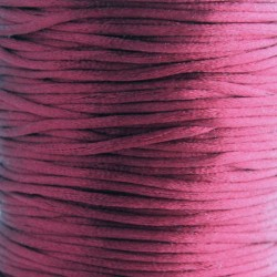 2mm Satin Rattail Cord - Burgundy