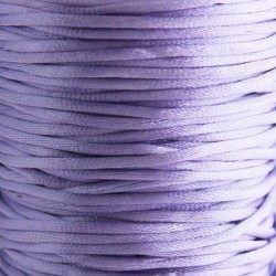 2mm Satin Rattail Cord - Light Purple