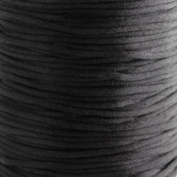 2mm Satin Rattail Cord - Black