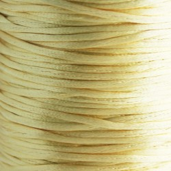 2mm Satin Rattail Cord - Dark Cream