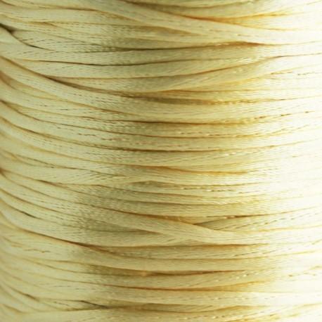 2mm Satin Rattail Cord - Dark Cream