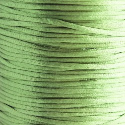 2mm Satin Rattail Cord - Light Green