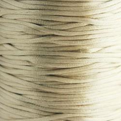 2mm Satin Rattail Cord - Light Tan