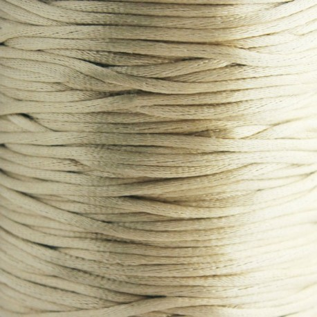 2mm Satin Rattail Cord - Light Tan