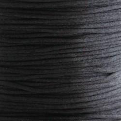 1mm Satin Cord - Black - 5m