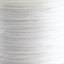 1mm Satin Cord - White