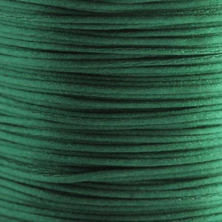 1mm Satin Cord - Dark Green