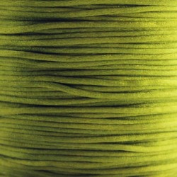 1mm Satin Cord - Olive Green