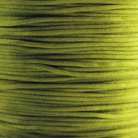 1mm Satin Cord - Olive Green