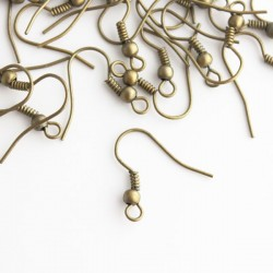 Bronze Tone 18mm Earwires - 50 Pairs