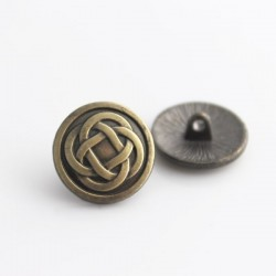 17mm Celtic Knot Shank Buttons - Bronze Tone