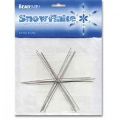 "6"" Beadsmith Snowflake Ornament Wire Form - Pack of 6"