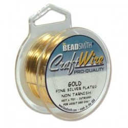 20ga (0.81mm) Beadsmith Dead Soft Craft Wire - Gold Plated - 6yd Spool