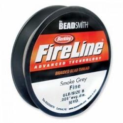 Fireline Braided Beading Thread 6lb - Smoke Grey - 50yd