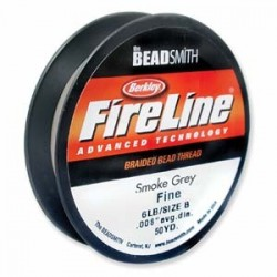 Fireline Braided Beading Thread 6lb - Smoke Grey
