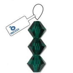 Preciosa 4mm Bicone Beads - Emerald