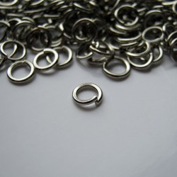 4mm Jump Rings - Silver Tone - Pack of 200