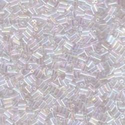 Miyuki 3mm Bugle Beads - Crystal AB