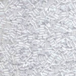 Miyuki 3mm Bugle Beads - White Pearl Ceylon