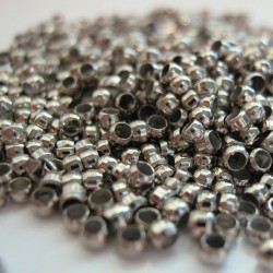 2mm Crimp Beads - Silver Tone