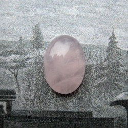 Rose Quartz Gemstone Cabochon - 14mm x 10mm - Pack of 1