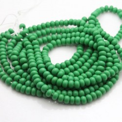 Czech Seed Beads Size 6/0 - Opaque Green