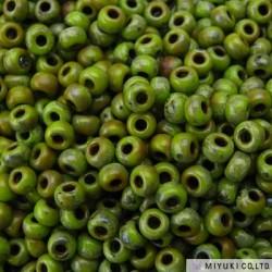 Miyuki Seed Beads 8/0 - Picasso Chartreuse Matt