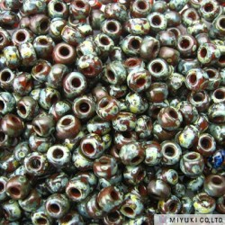 Miyuki Seed Beads 8/0 - Picasso Red Brown
