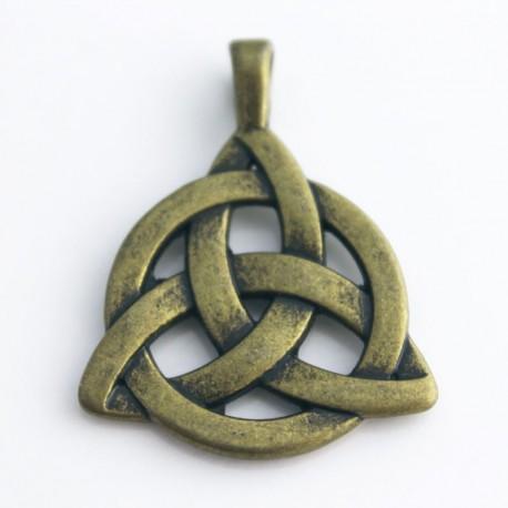 Celtic Triquetra Pendant - Bronze Tone