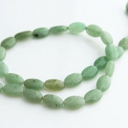 Green Aventurine 12mm Oval Beads