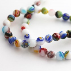Millefiori 8mm Round Beads