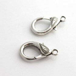 31mm Lobster Clasp - Antique Silver Tone - Pack of 1