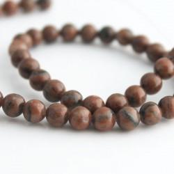 6mm Sesame Jasper Beads - 37cm Strand