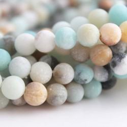 6mm Frosted Amazonite Round Beads - New Lower Price!