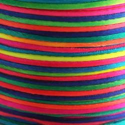 1mm Satin Cord - Bright Multi Coloured
