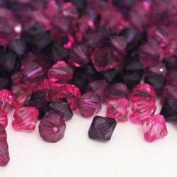8mm Acrylic Bicone Beads NEW PACK SIZE - Purple & Pink Mix