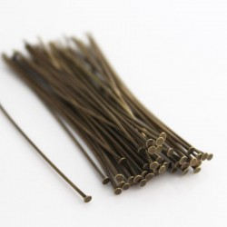 50mm Bronze Tone Brass Headpins - Pack of 50