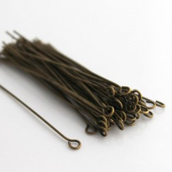 50mm Bronze Tone Brass Eyepins - Pack of 50