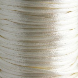 2mm Satin Rattail Cord - Light Cream